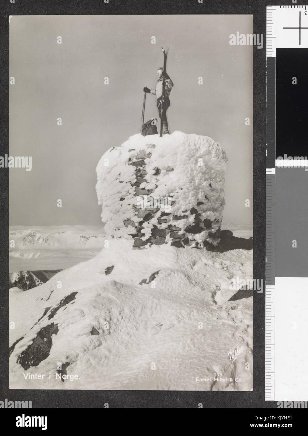 377. Vinter i Norge   no nb digifoto 20150116 00193 blds 07167 - Stock Image