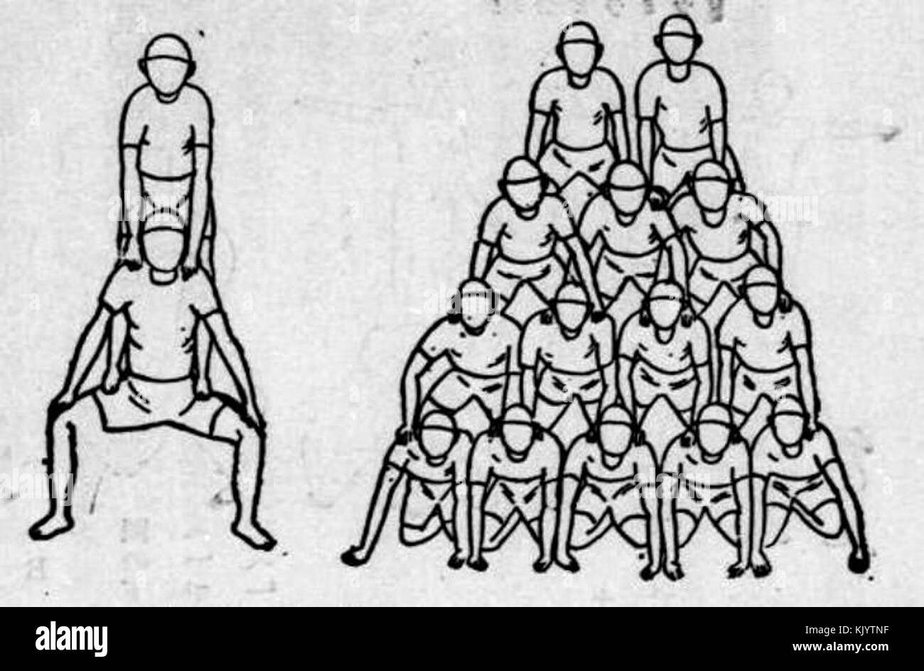 Human Pyramid Black And White Stock Photos Images Alamy