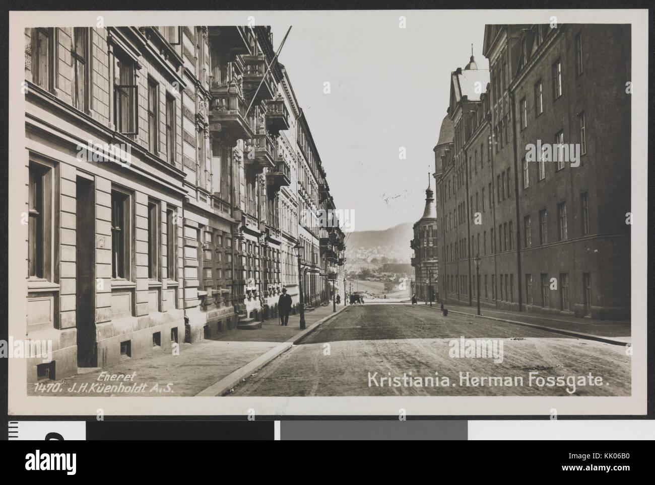 1470 Kristiania. Herman Fossgate   no nb digifoto 20151009 00112 bldsa PK00535 - Stock Image
