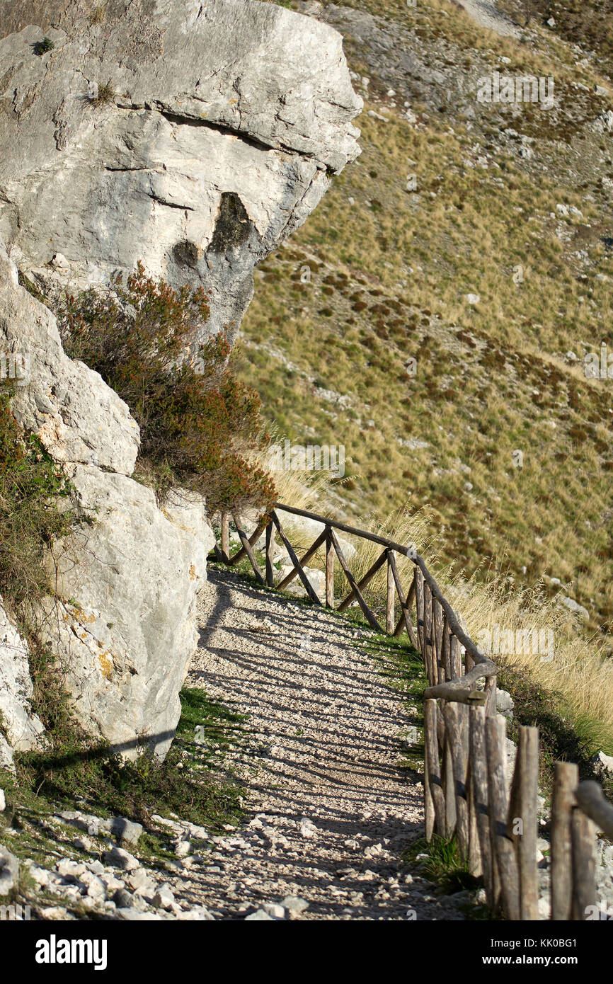 Mountain pathway - escaping - Stock Image