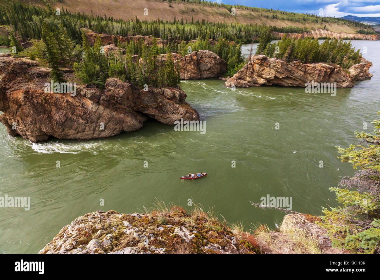 Canadian landscapes of the Klondike Stock Photo