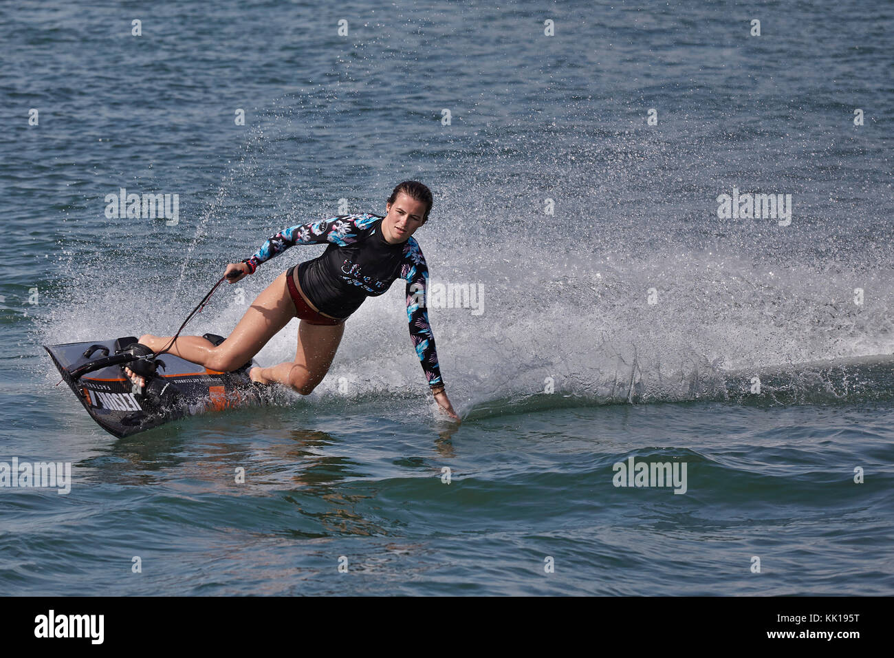 Aneta Šacherová, Czech Republic 2016 World Jetsurf Champion. - Stock Image