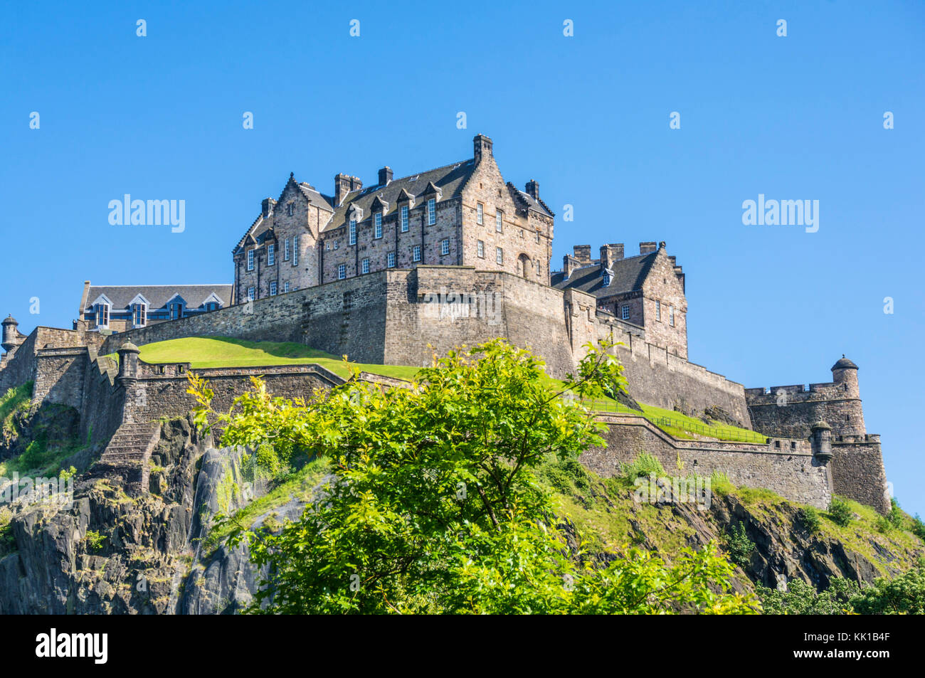 Edinburgh Castle scotland castle edinburgh scottish castle edinburgh  Old Town Edinburgh Midlothian Scotland UK - Stock Image