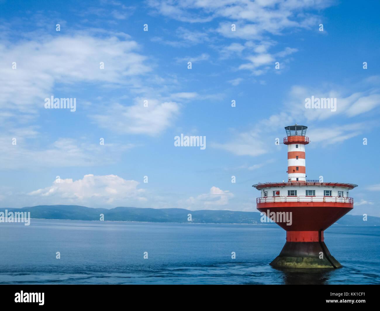 Haut-Fond Prince Lighthouse, Quebec, Canada - Stock Image