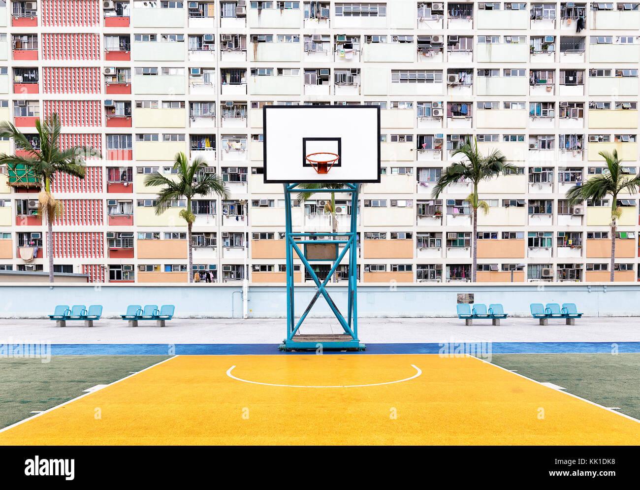 Choi Hung Estate in Hong Kong China Stock Photo