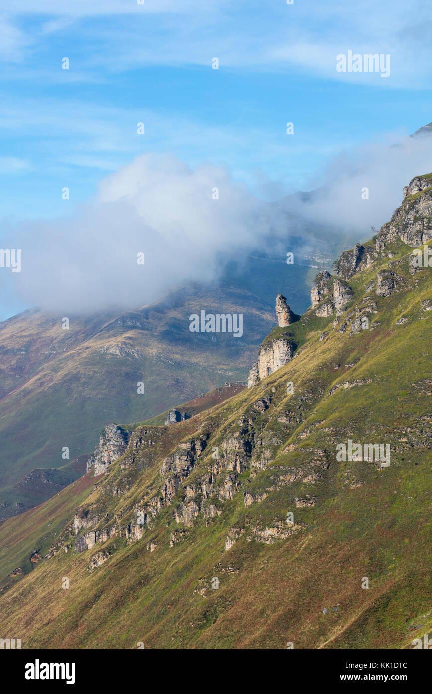 View from Mirador de Covalruyu, Miera Valley, Valles Pasiegos, Cantabria, Spain, Europe Stock Photo
