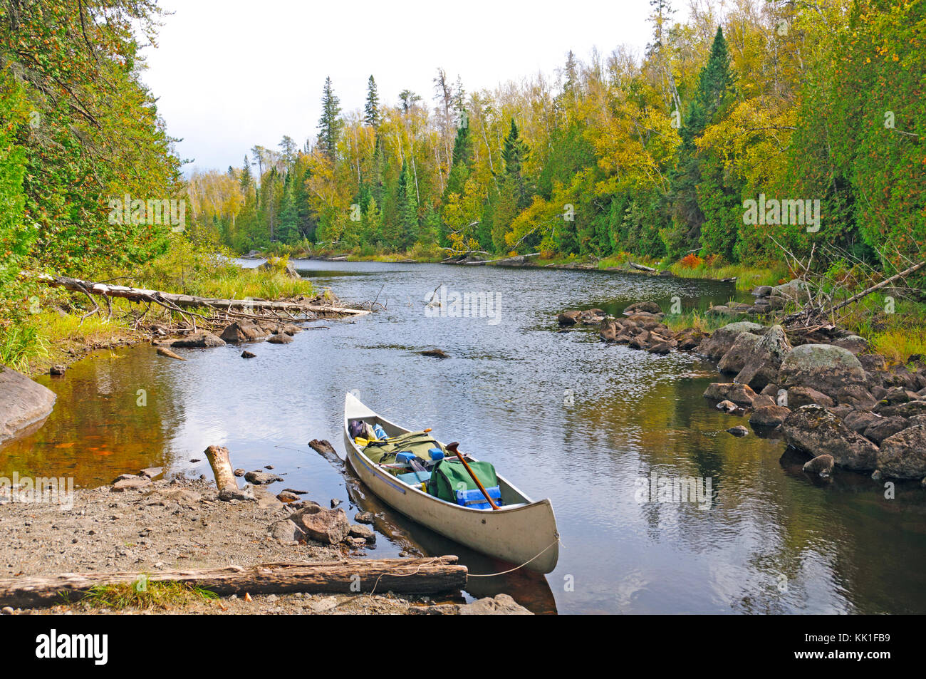 Mora Lake Portage in the Boundary Waters - Stock Image