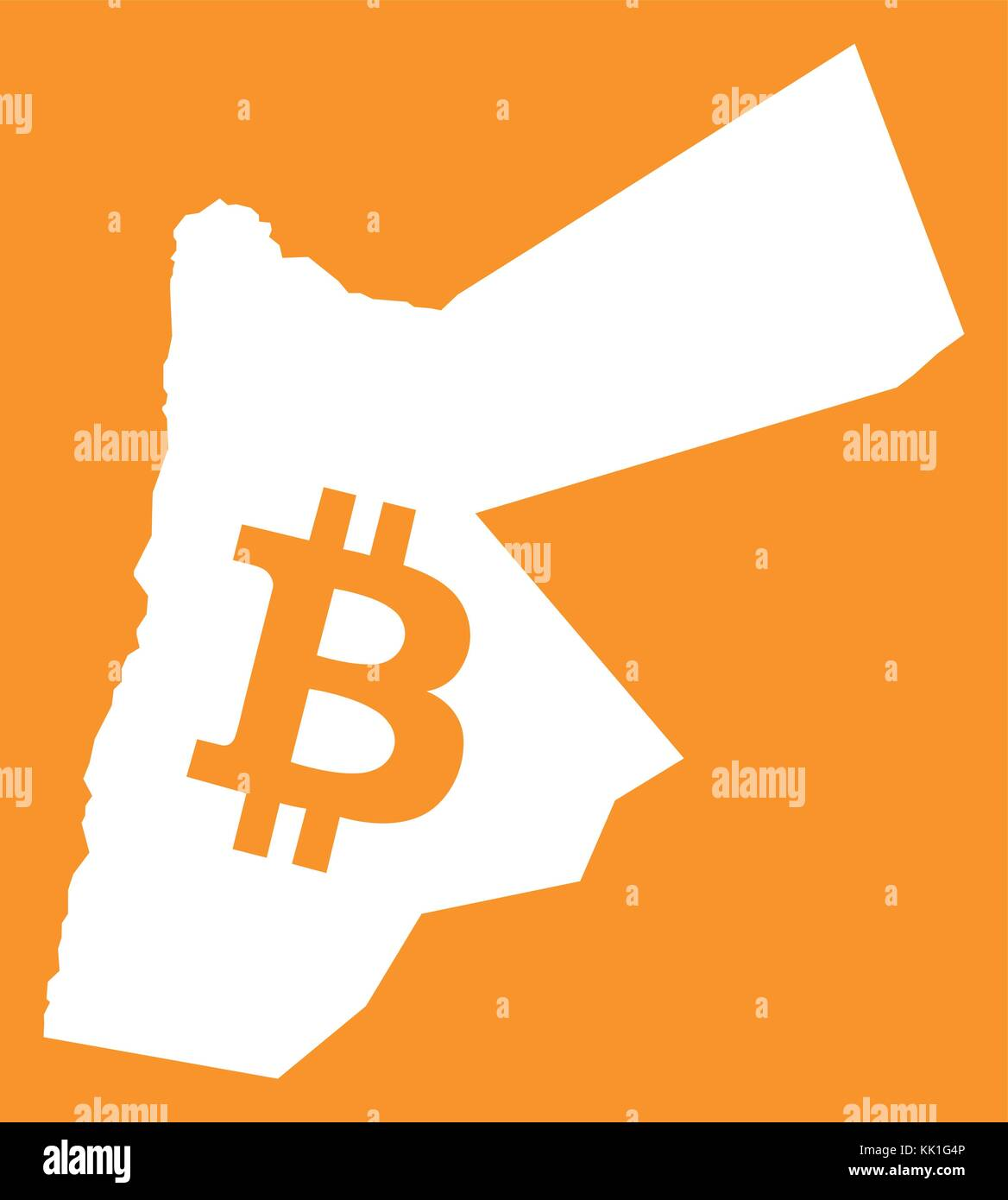 Jordan stock vector images alamy jordan map with bitcoin crypto currency symbol illustration stock vector biocorpaavc Gallery