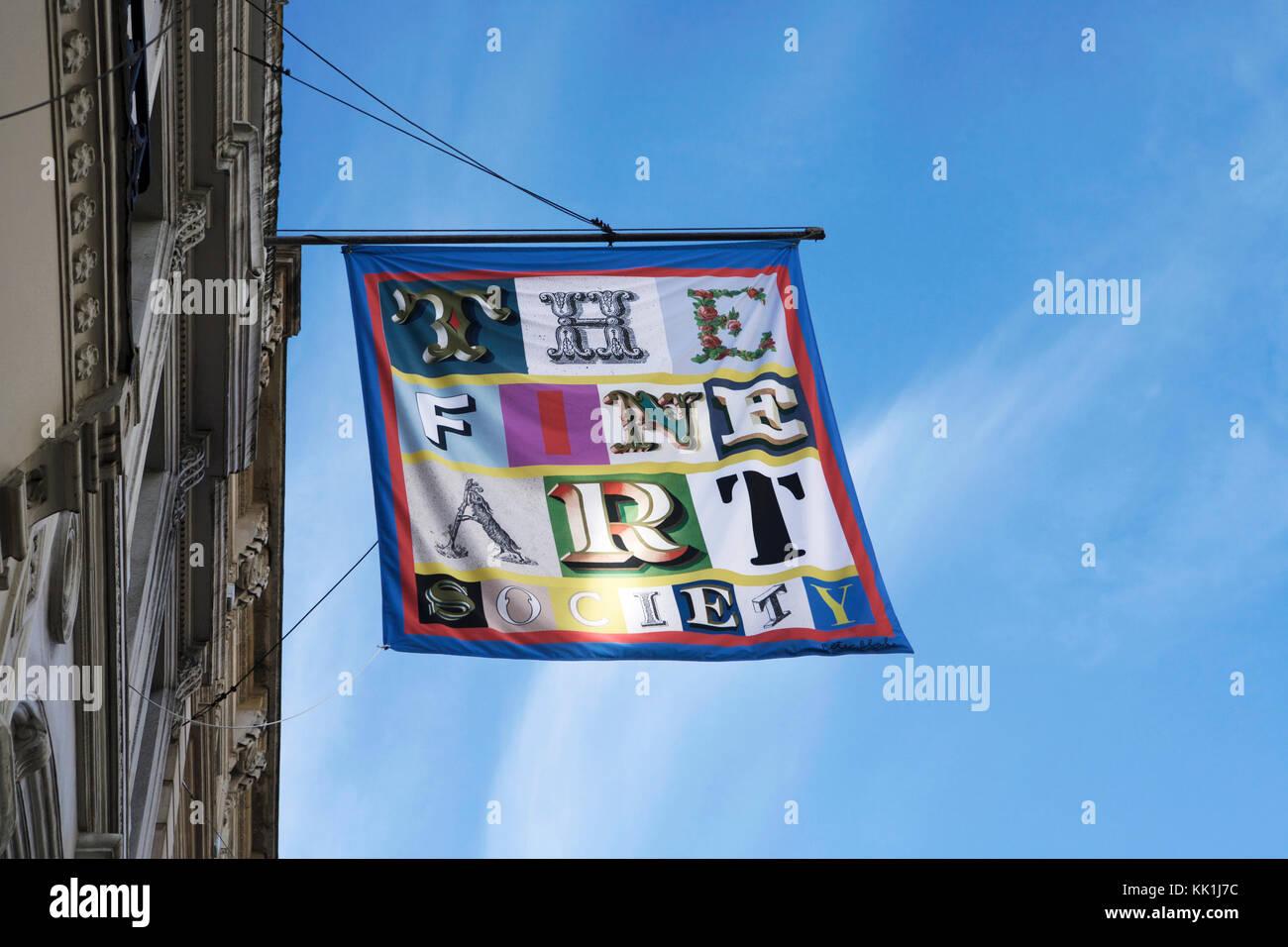 The Fine Art Society, New Bond St, Mayfair, London, UK. - Stock Image