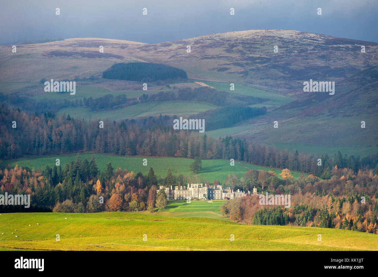 Bowhill House, Bowhill estate, Selkirk, Scottish Borders, Scotland. - Stock Image