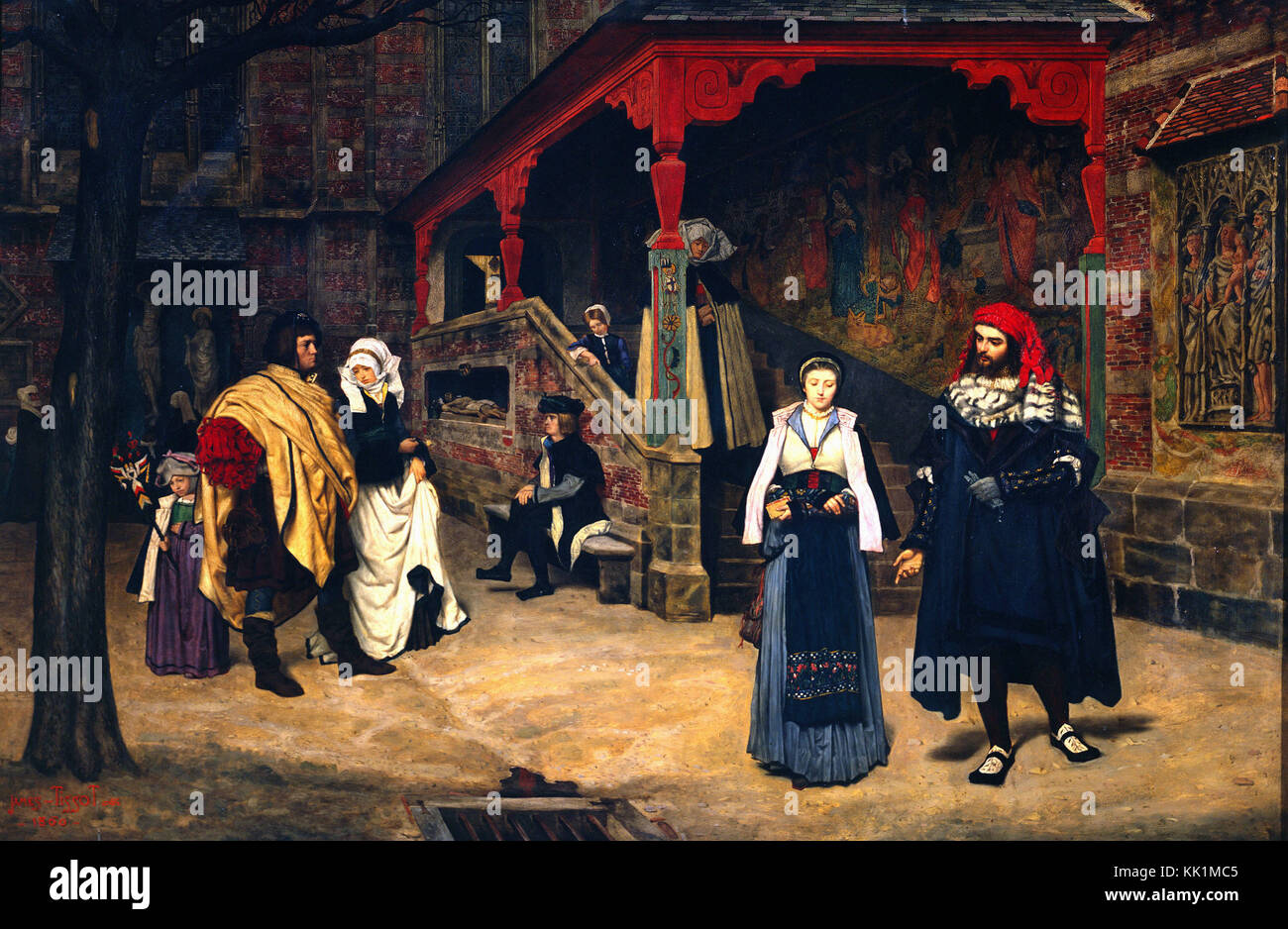 Tissot James Jacques - Meeting of Faust and Marguerite  - 1860 - Stock Image