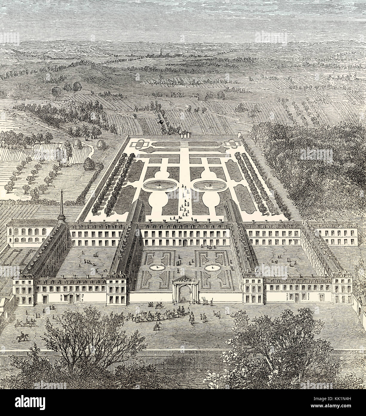 The Maison Royale de Saint-Louis in 1684, Saint-Cyr, Saint-Cyr-l'École,  Yvelines, France