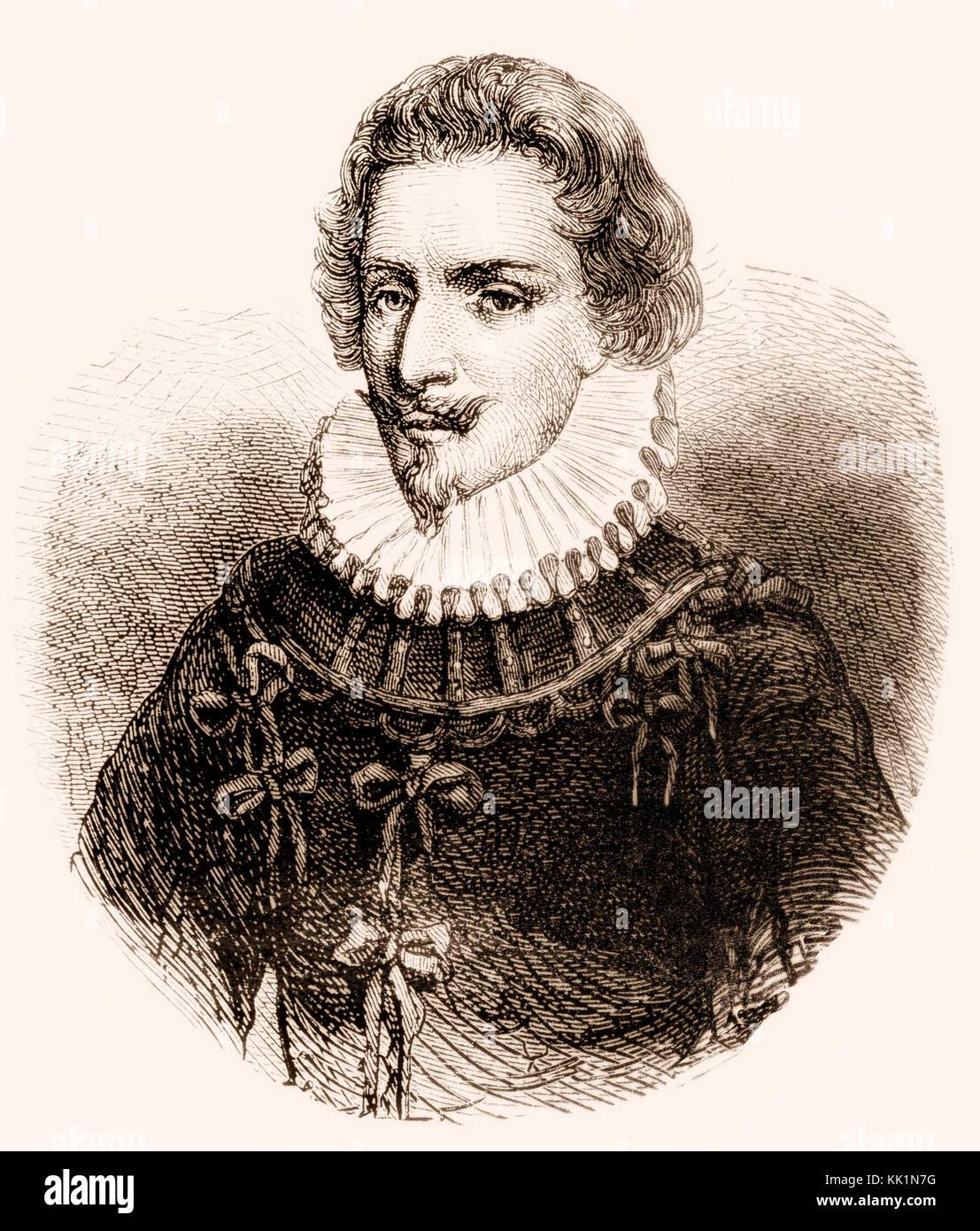 Concino Concini, marquis d'Ancre, 1575 - 1617, Italian politician, - Stock Image