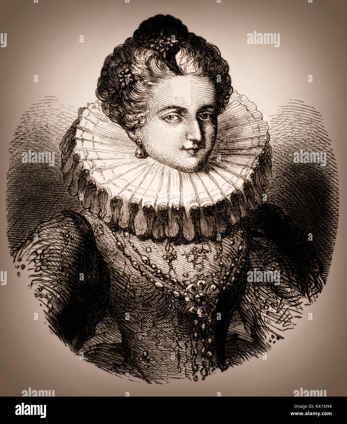Leonora Dori Galigaï, 1571 – 1617, a French courtier - Stock Image