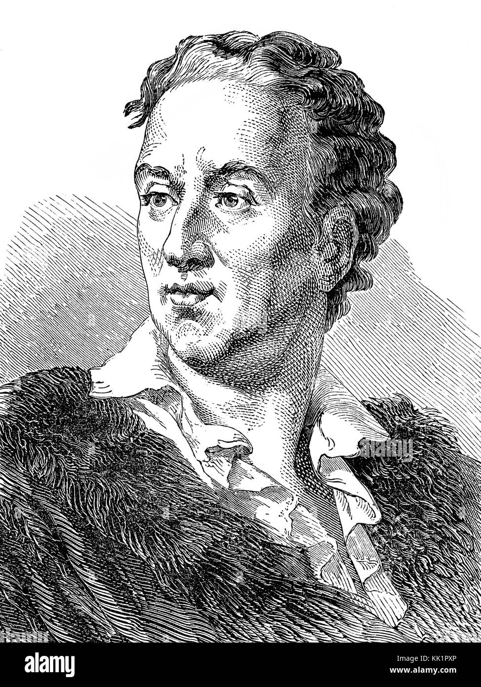 Denis Diderot, 1713 - 1784, a French writer, Enlightenment philosopher - Stock Image