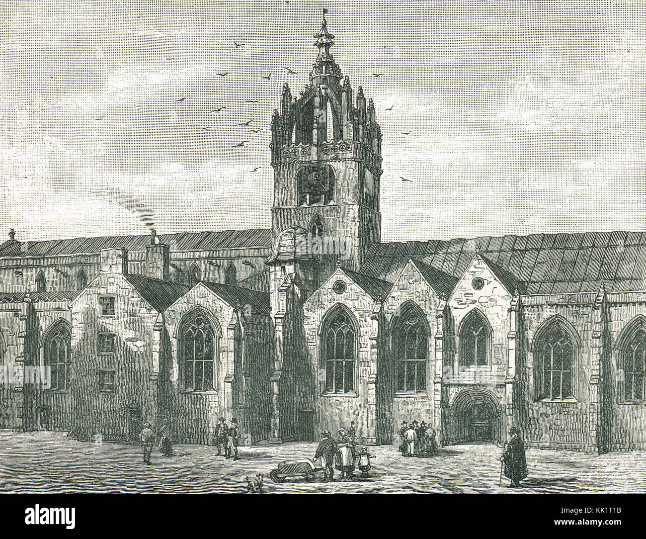 St Giles Church, Edinburgh in the 17th Century - Stock Image