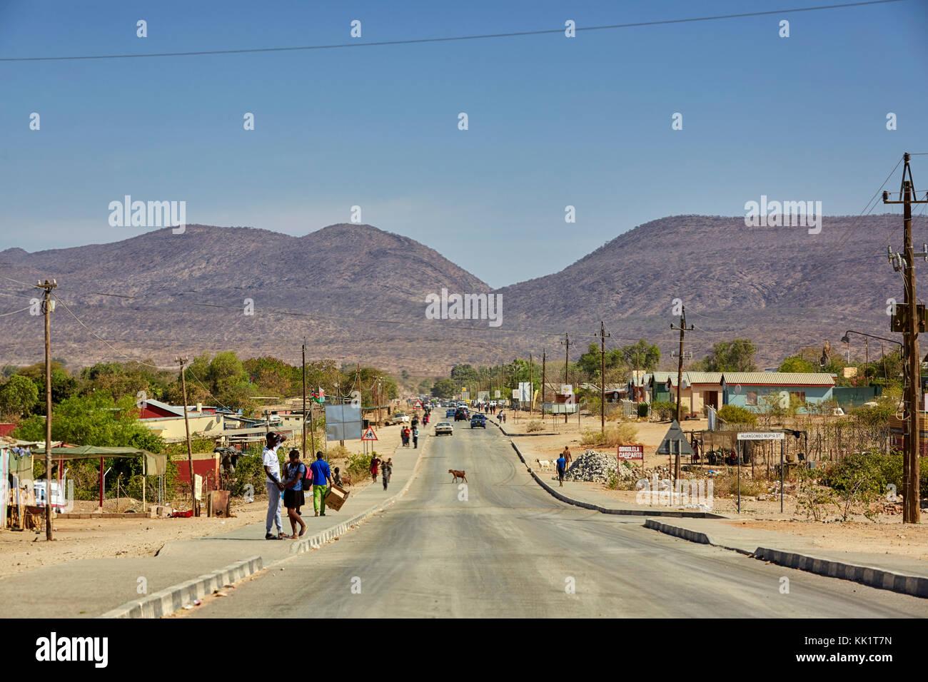 Opuwo, Kaokoveld, Namibia, Africa - Stock Image