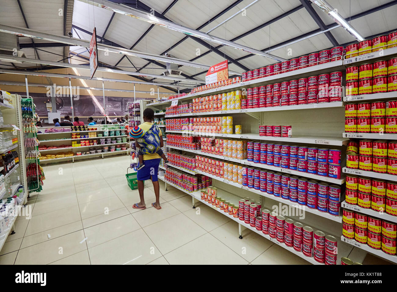 Supermarket in Tsumeb, Namibia, Africa - Stock Image