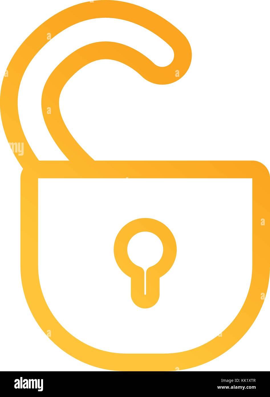 open padlock icon image - Stock Image