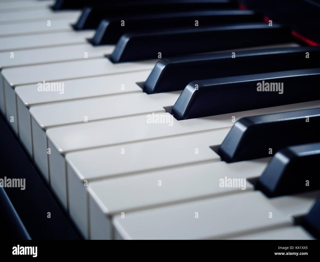 Piano keys close-up - Stock Image