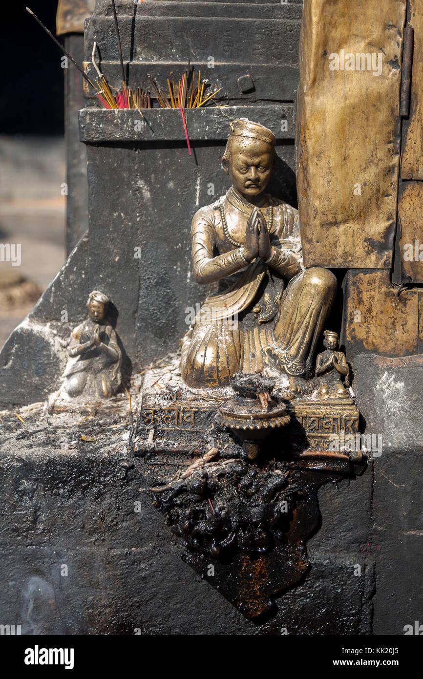 Swayambhunath stupa, Kathmandu's Monkey Temple - Stock Image