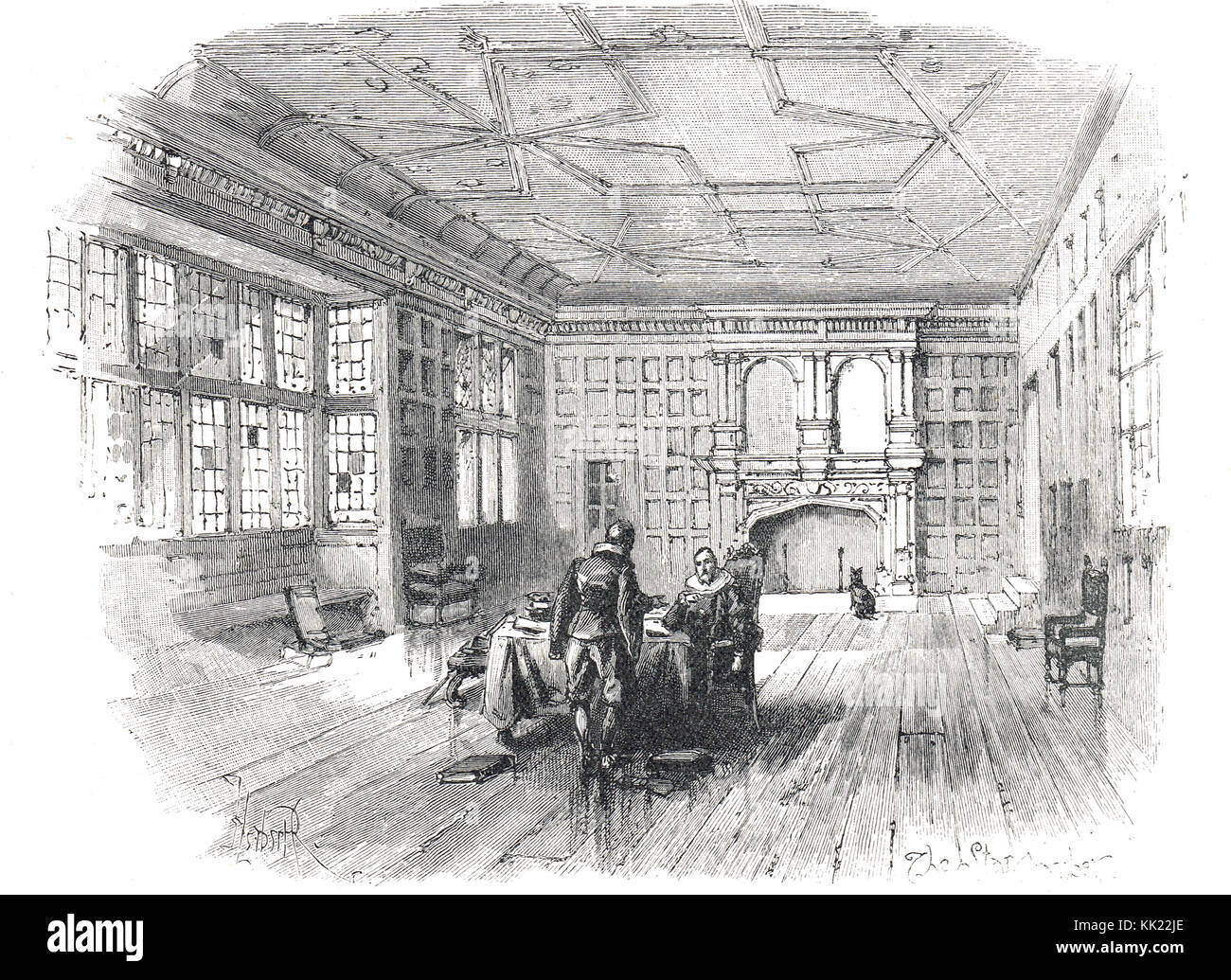 Interior of The Star Chamber in the 17th Century, - Stock Image