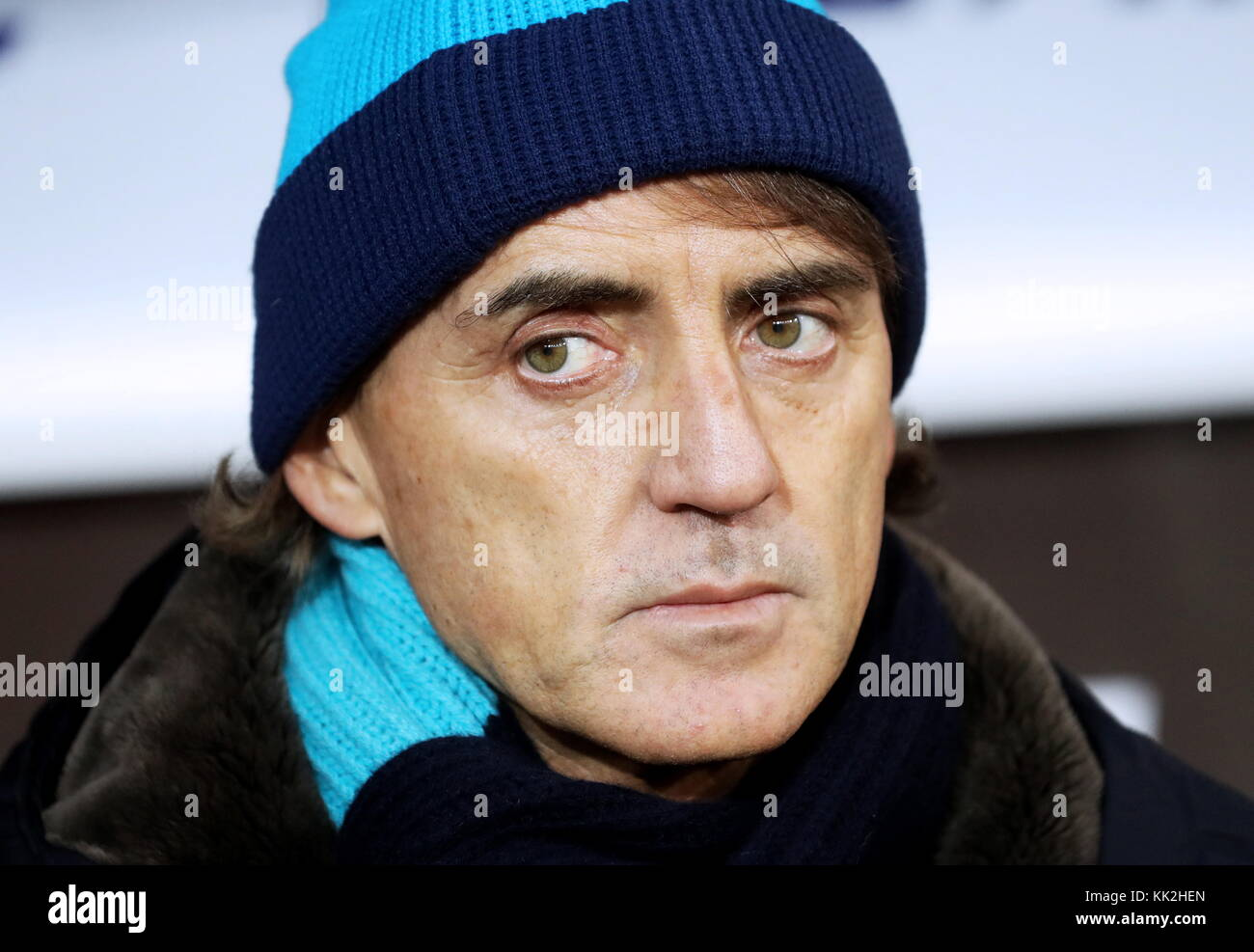 Moscow, Russia. 27th Nov, 2017. Zenit St Petersburg's manager Roberto Mancini in the 2017/2018 Russian Premier - Stock Image