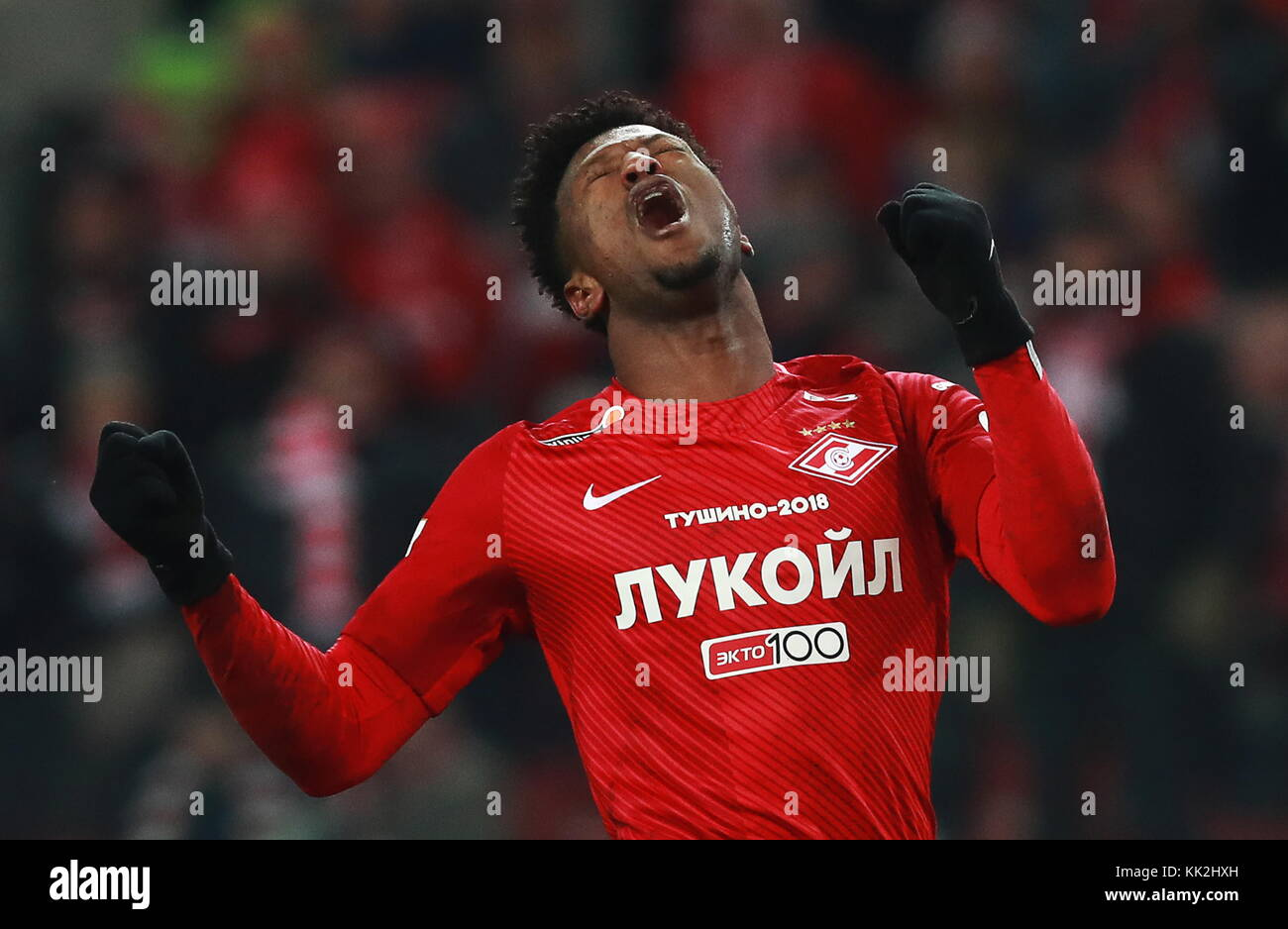 Moscow, Russia. 27th Nov, 2017. Spartak Moscow's Ze Luis in the 2017/2018 Russian Premier League Round 18 football - Stock Image