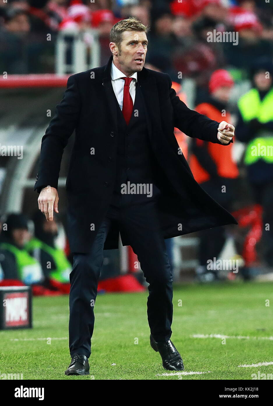 Moscow, Russia. 27th Nov, 2017. Spartak Moscow's manager Massimo Carrera in the 2017/2018 Russian Premier League - Stock Image