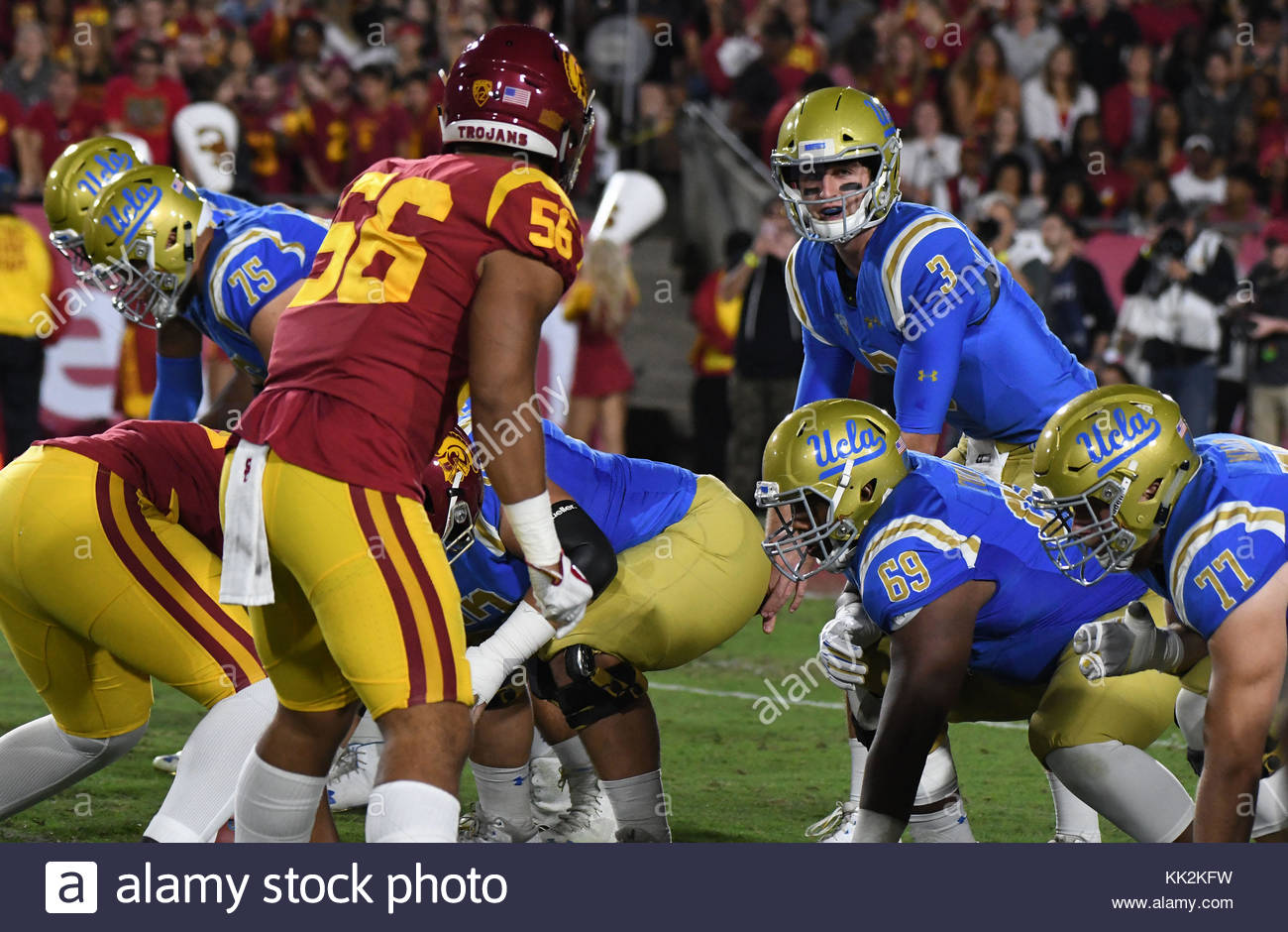 uk availability 2054d 536ce UCLA Bruins quarterback Josh Rosen (3) against the USC Trojans during the first  half of an NCAA college football game at the Los Angeles Memorial ...