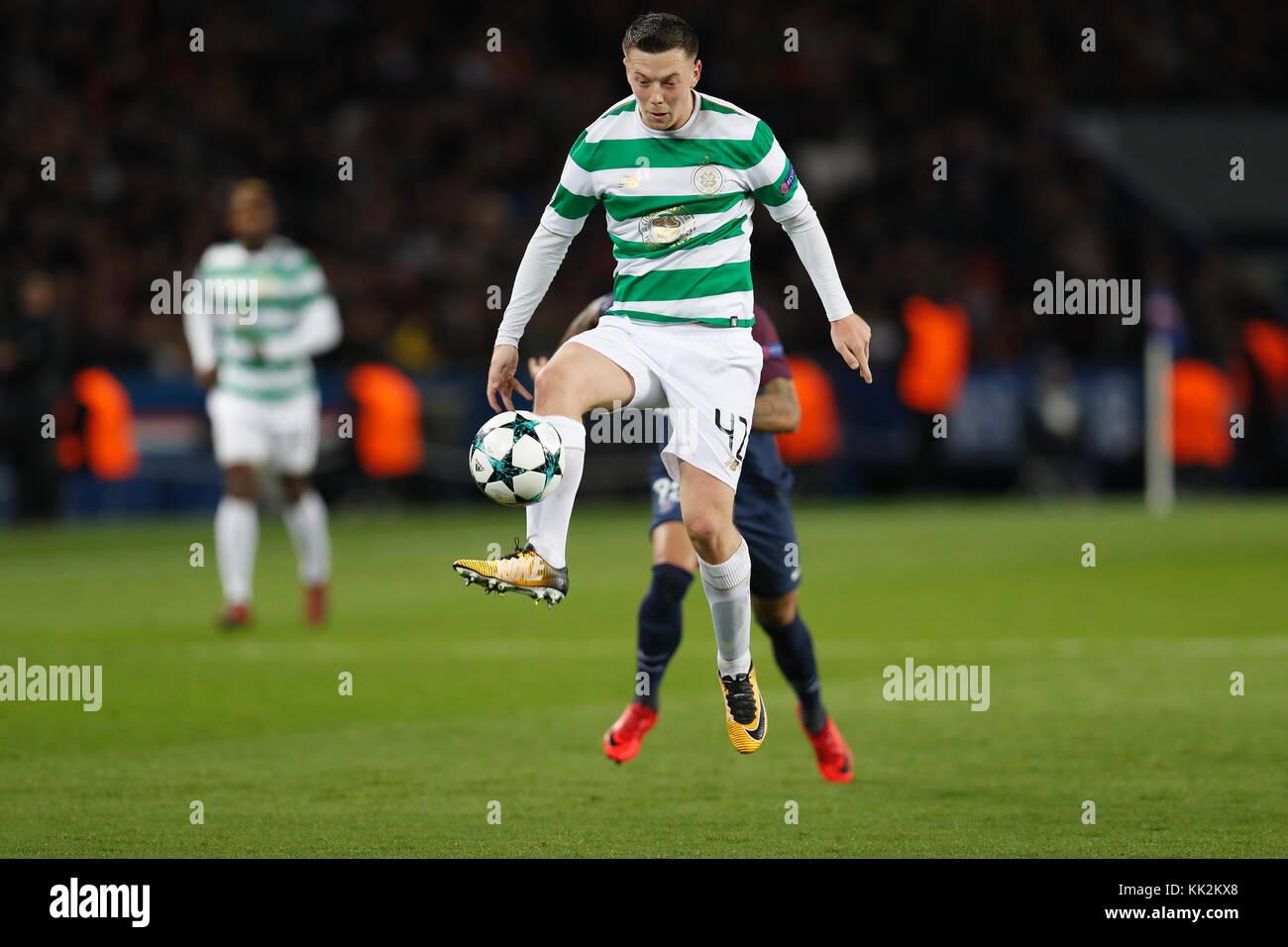 Paris, France. 22nd Nov, 2017. Callum McGregor (Celtic) Football/Soccer : UEFA Champions League Mtchday 5 Group - Stock Image