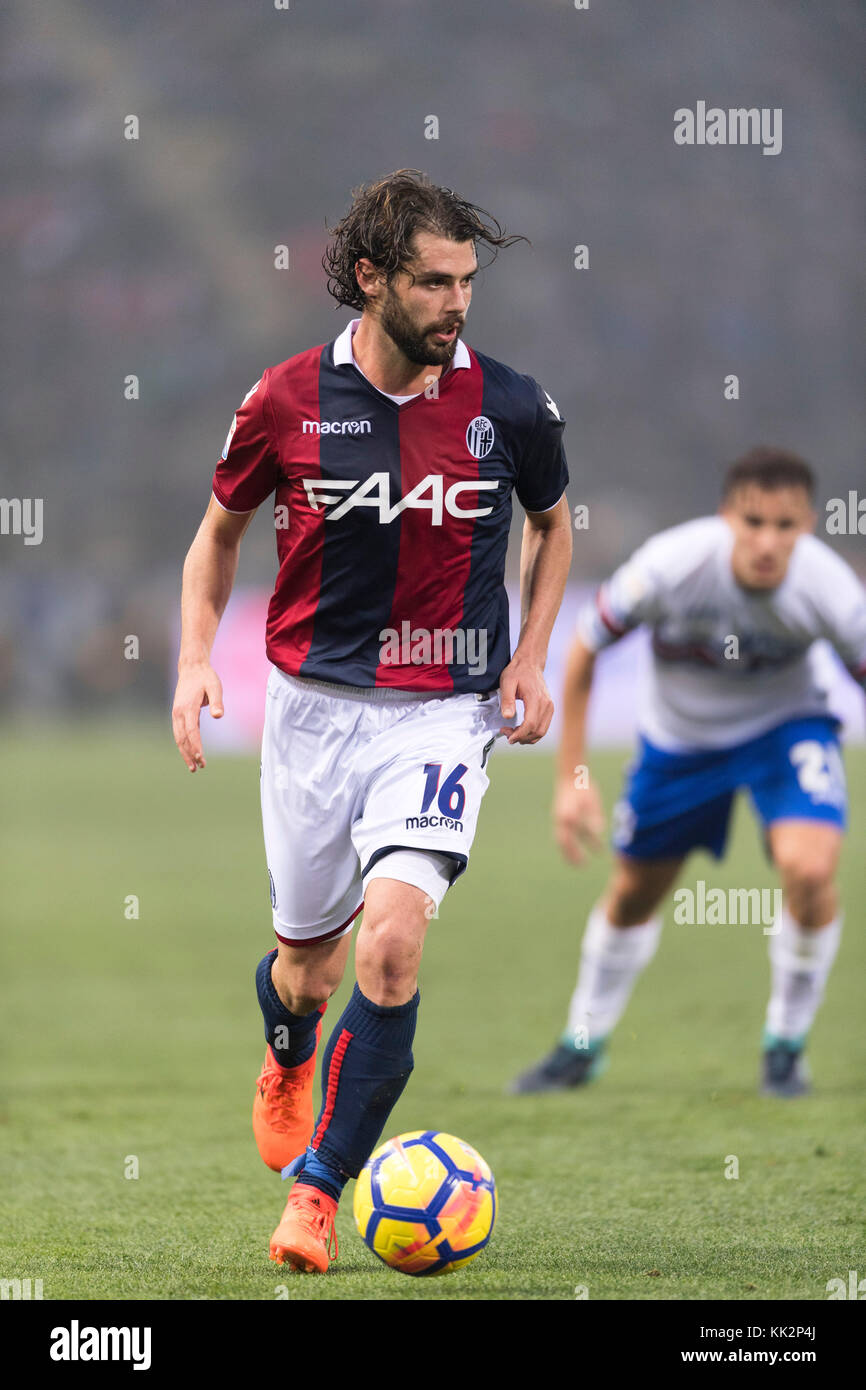 "Bologna, Italy. 25th Nov, 2017. Andrea Poli (Bologna) Football/Soccer : Italian ""Serie A"" match between Bologna FC 3-0 UC Sampdoria at Stadio Renato Dall'Ara in Bologna, Italy . Credit: Maurizio Borsari/AFLO/Alamy Live News Stock Photo"