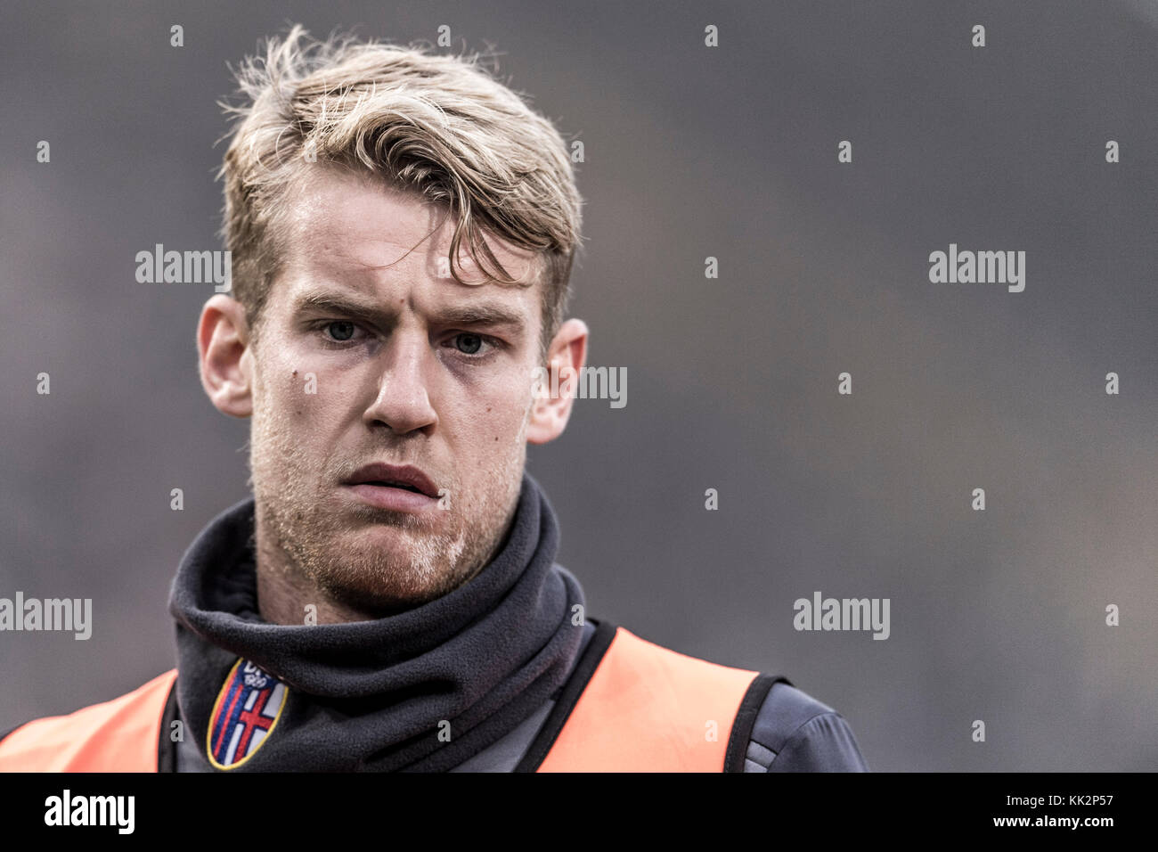 "Bologna, Italy. 25th Nov, 2017. Filip Helander (Bologna) Football/Soccer : Italian ""Serie A"" match between Bologna FC 3-0 UC Sampdoria at Stadio Renato Dall'Ara in Bologna, Italy . Credit: Maurizio Borsari/AFLO/Alamy Live News Stock Photo"