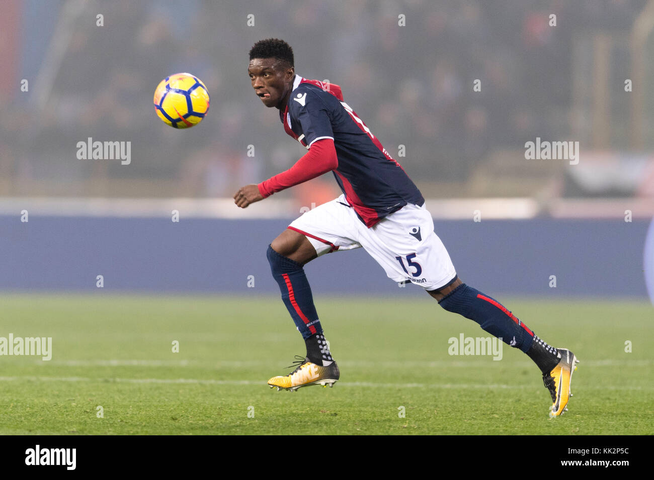"Bologna, Italy. 25th Nov, 2017. Ibrahima Mbaye (Bologna) Football/Soccer : Italian ""Serie A"" match between Bologna FC 3-0 UC Sampdoria at Stadio Renato Dall'Ara in Bologna, Italy . Credit: Maurizio Borsari/AFLO/Alamy Live News Stock Photo"