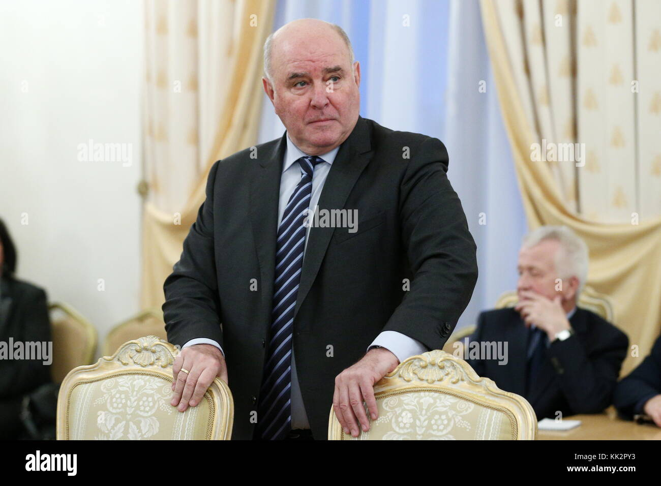 Moscow, Russia. 28th Nov, 2017. Russia's state secretary and deputy minister of foreign affairs Grigory Karasin - Stock Image