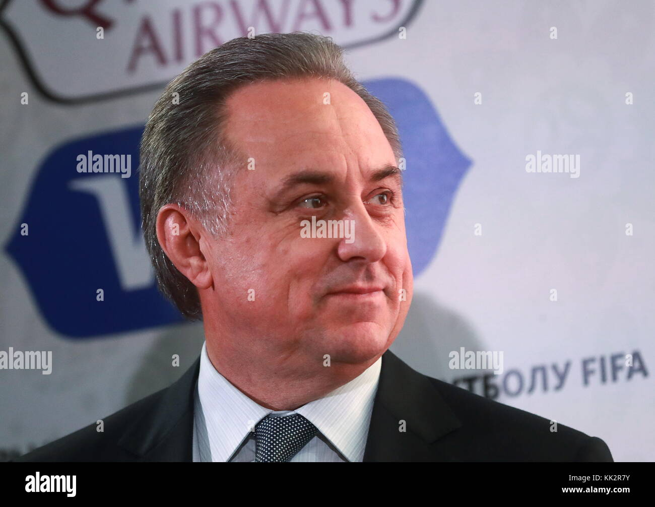 Moscow Region, Russia. 28th Nov, 2017. Vitaly Mutko, Russia's Deputy Prime Minister and Russian Football Union - Stock Image