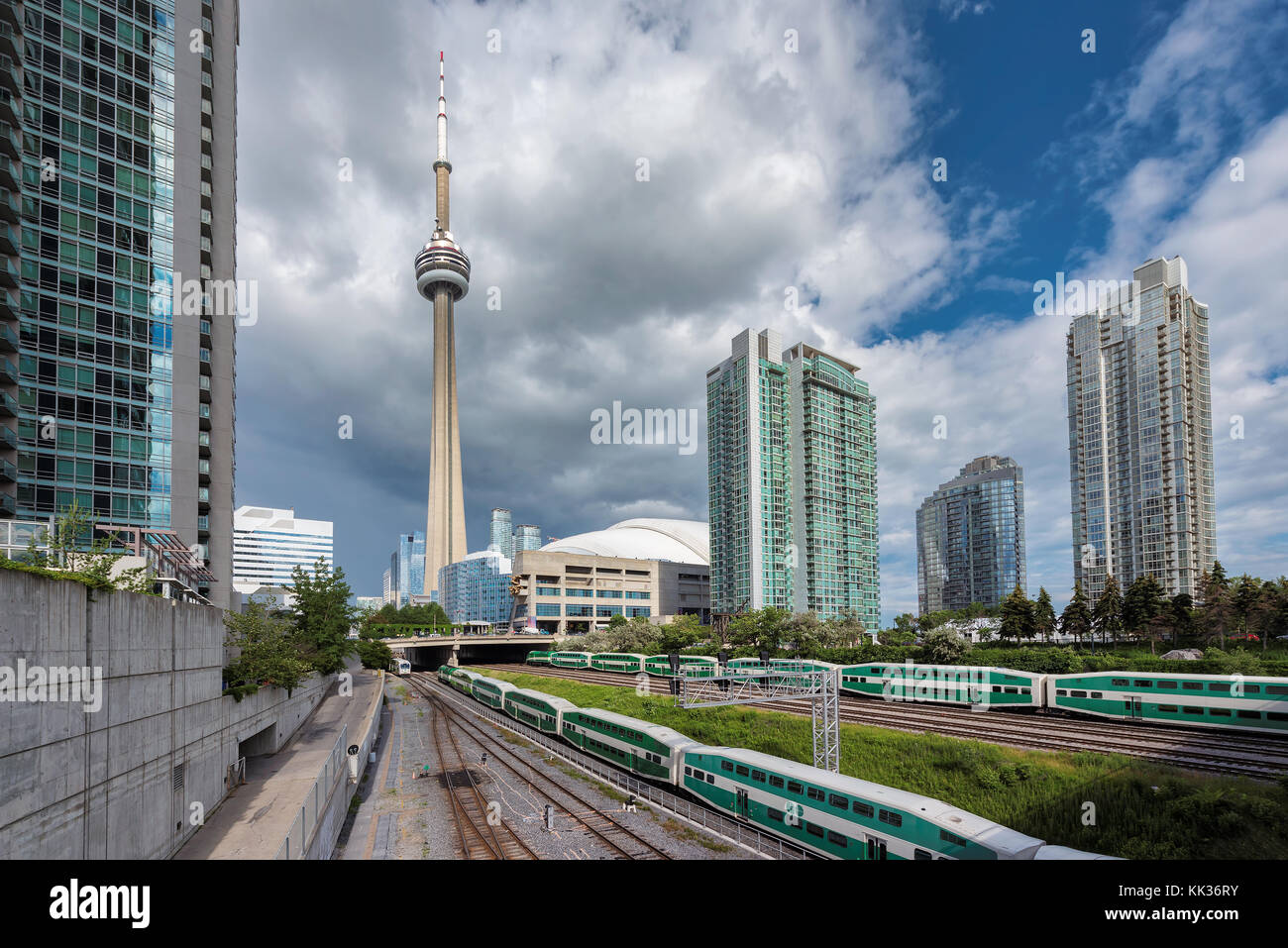 Toronto Skyline with the CN Tower Stock Photo