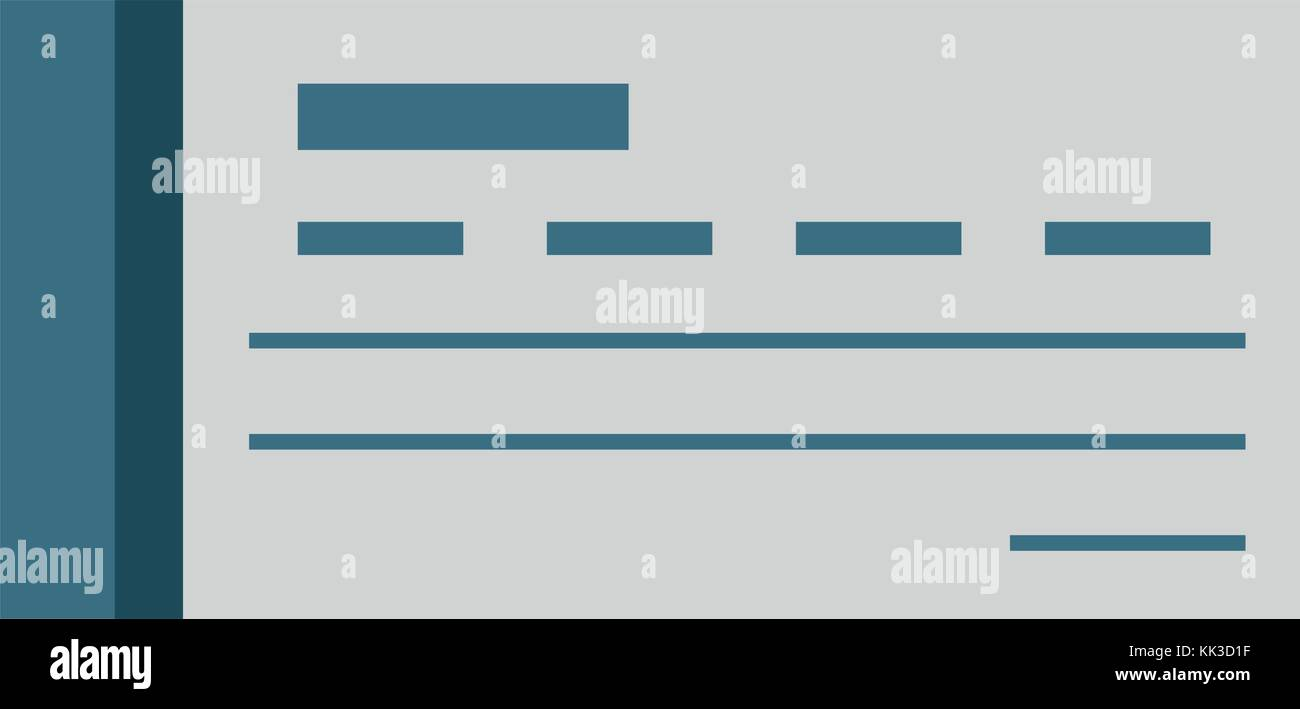 Bank Check Symbol Stock Vector Art Illustration Vector Image