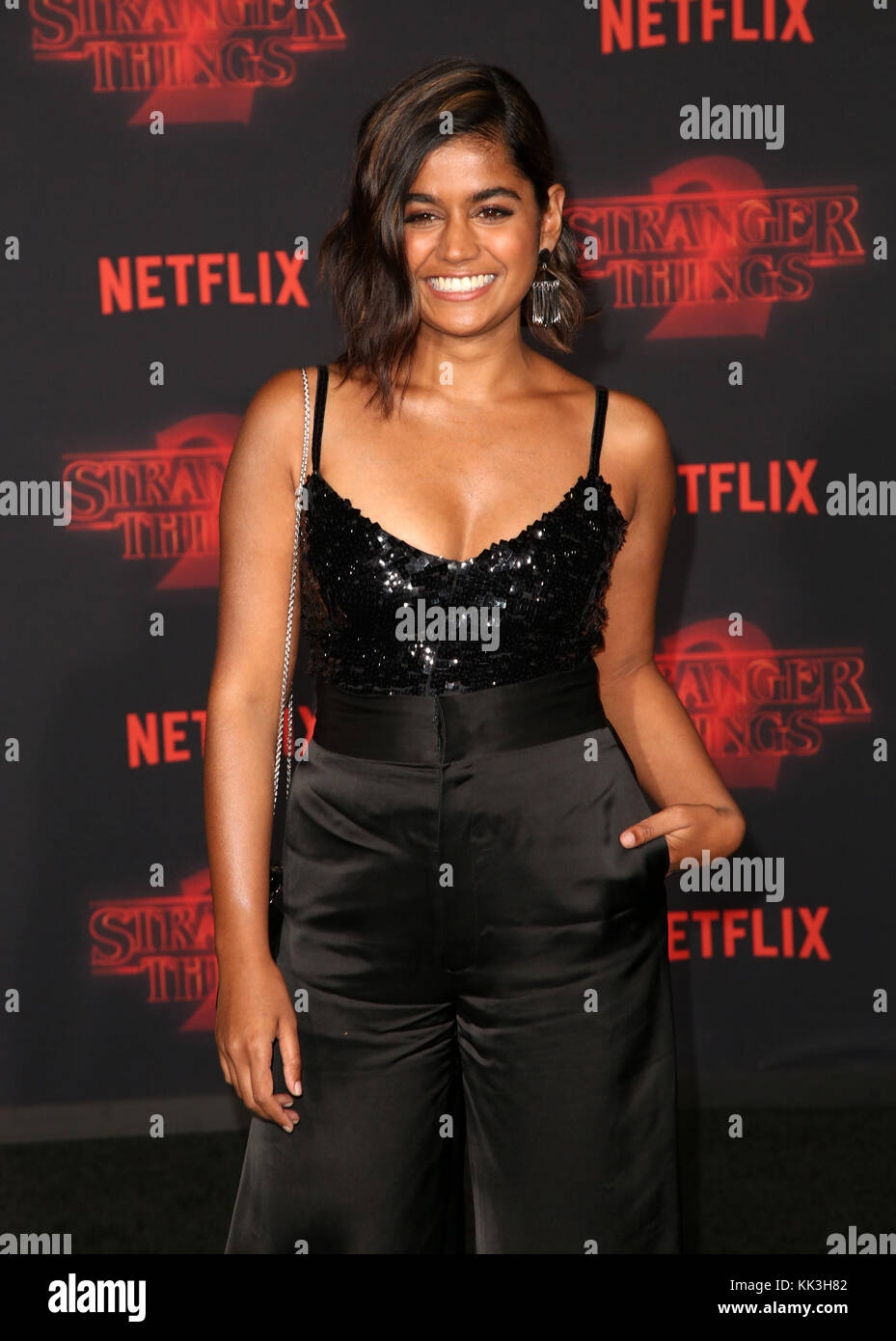 Celebrities attend Netflix's Stranger Things 2 Premiere at Westwood Village Theater.  Featuring: Linnea Berthelsen - Stock Image
