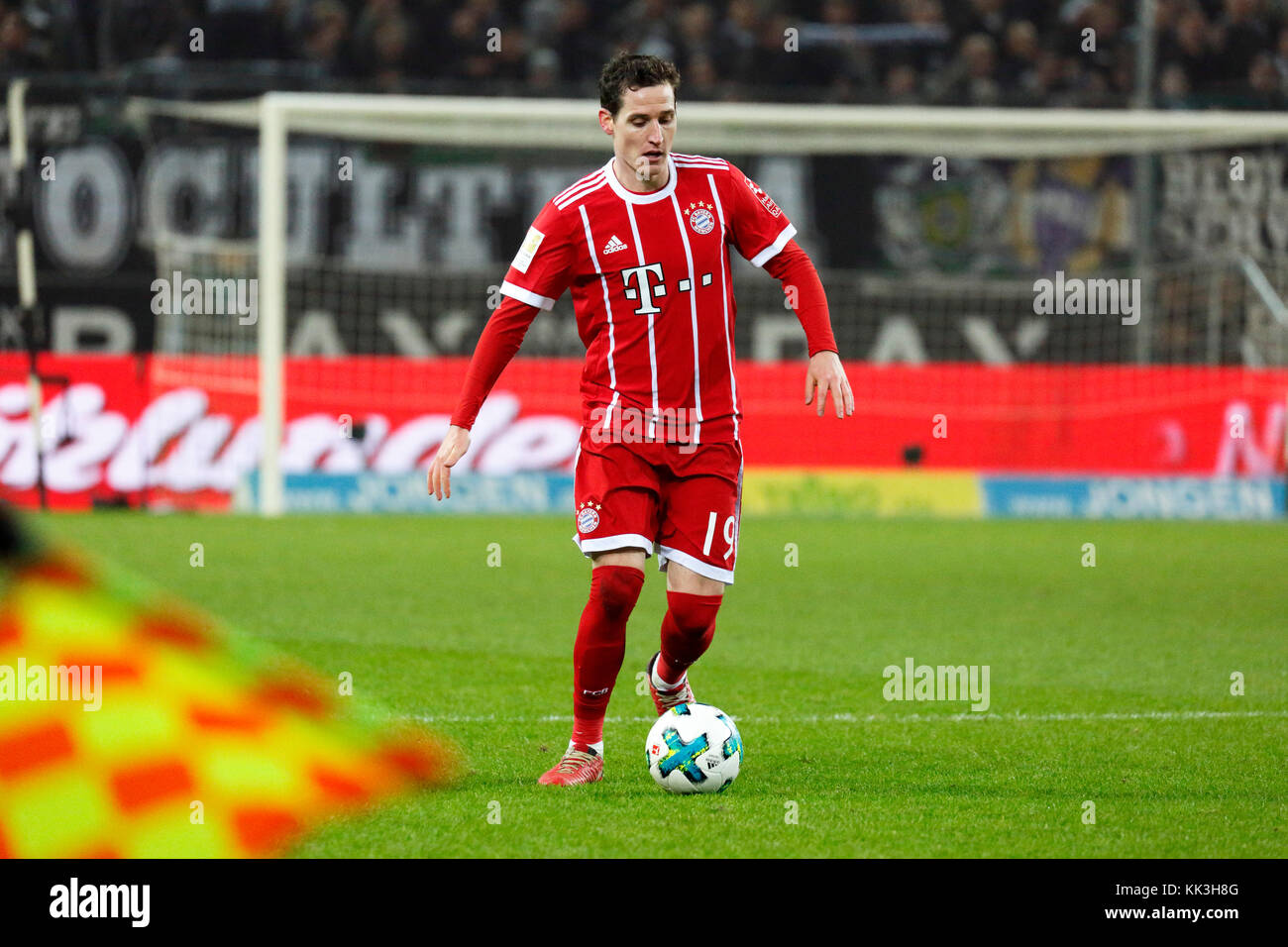 sports, football, Bundesliga, 2017/2018, Borussia Moenchengladbach vs FC Bayern Munich 2:1, Stadium Borussia Park, - Stock Image