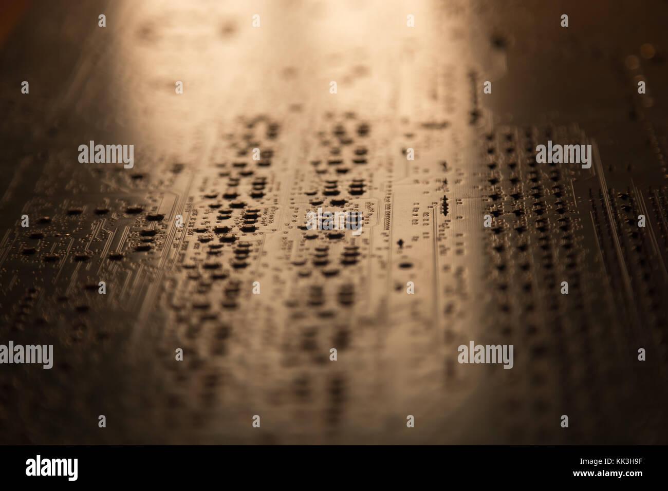 Printed Circuit Board Blue Stock Photos Kk Wiring Diagram Close Up Of Electronic Image