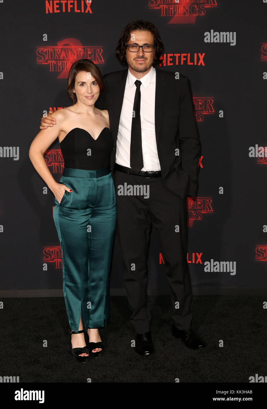 Celebrities attend Netflix's Stranger Things 2 Premiere at Westwood Village Theater.  Featuring: Guests Where: - Stock Image