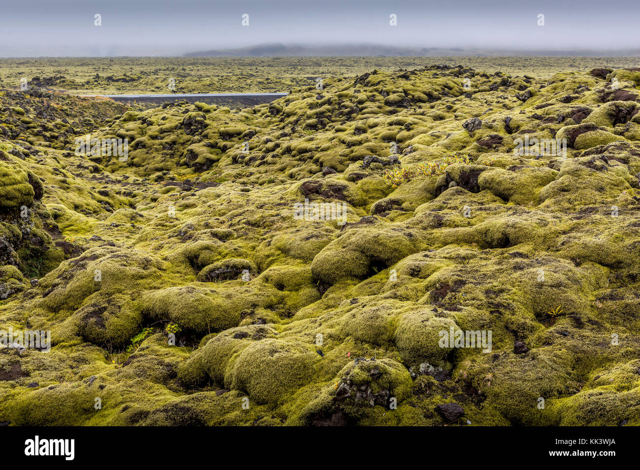 LAVA FIELDS - on the way to HOFN - Stock Image