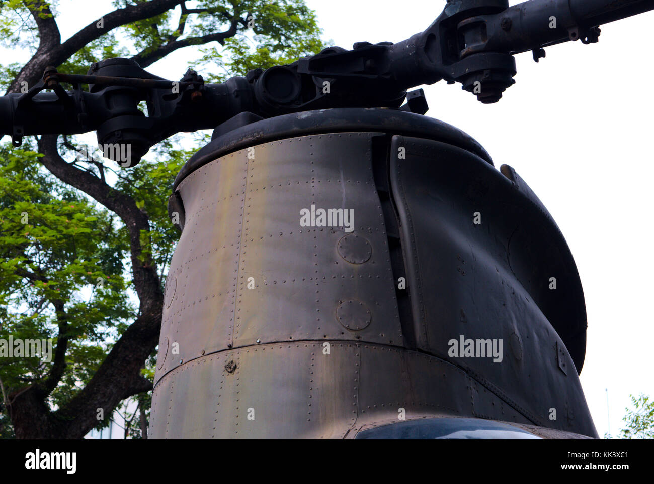 Helicopter rotor - Stock Image