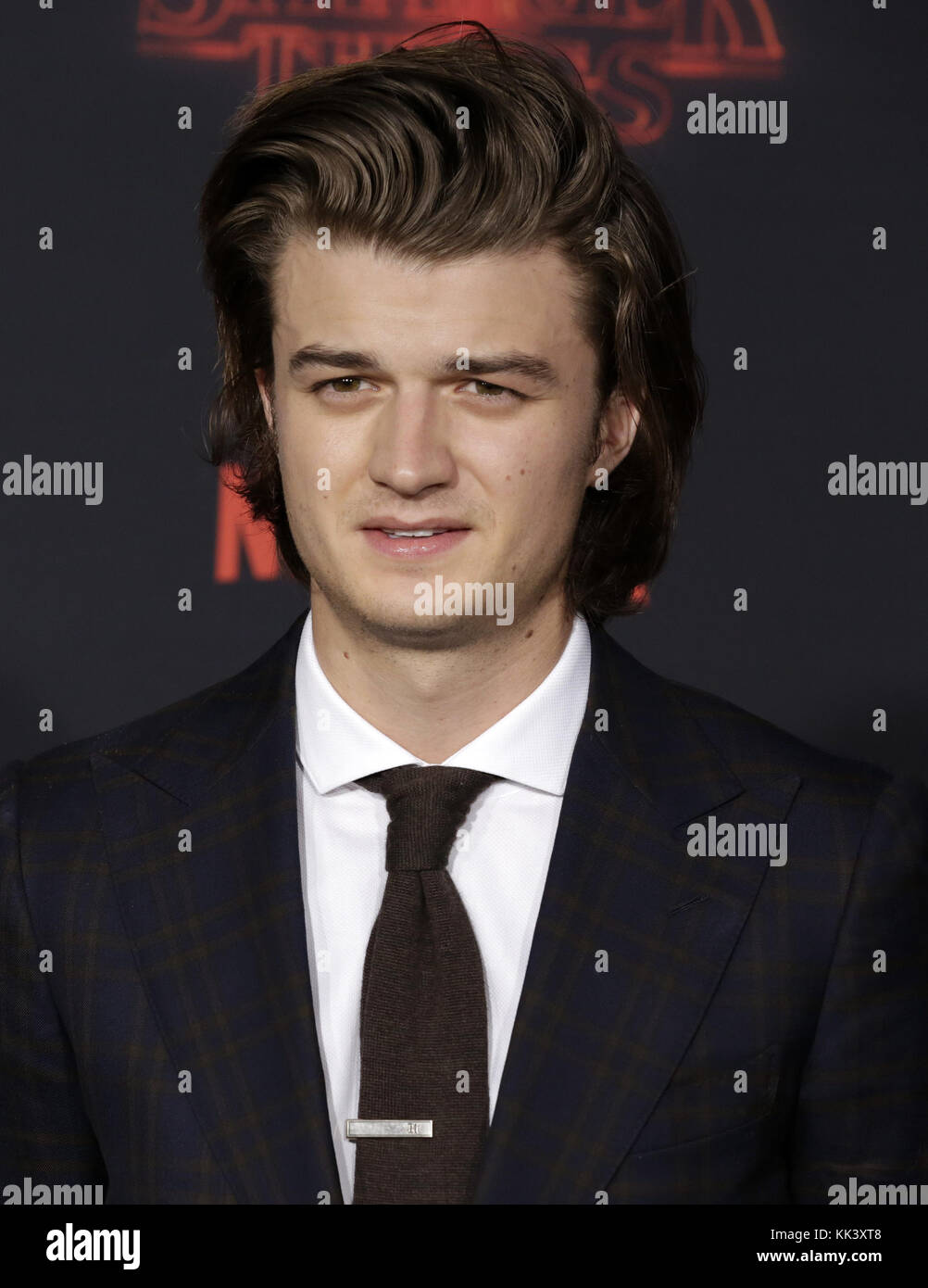 Celebrities attend Netflix's Stranger Things 2 Premiere at Westwood Village Theater.  Featuring: Joe Keery Where: - Stock Image
