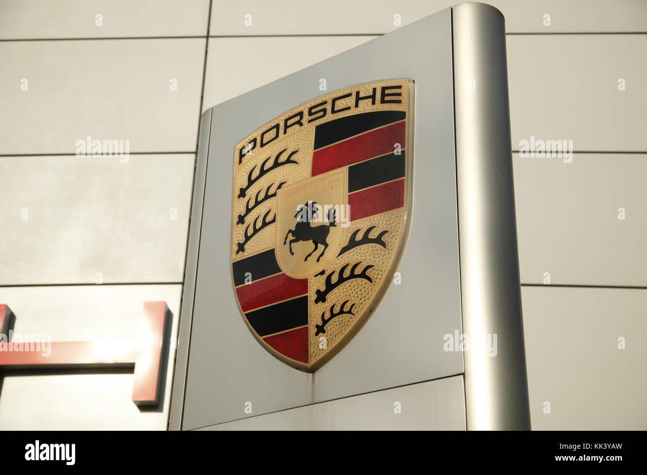 Porsche Logo - Stock Image
