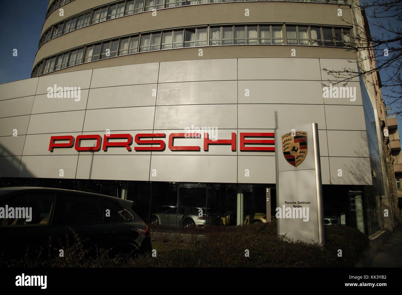 Porsche  store in Berlin - Stock Image