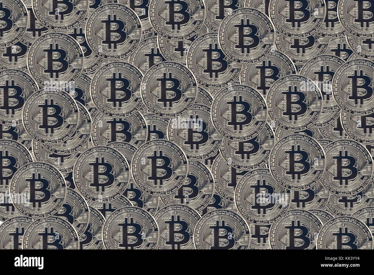 Bitcoin Symbolphoto Stock Photo