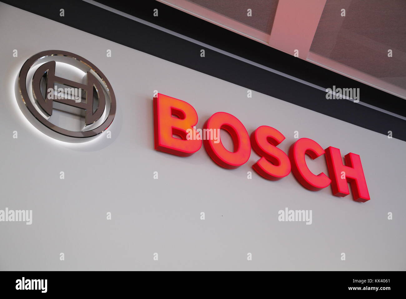 Bosch label - Stock Image