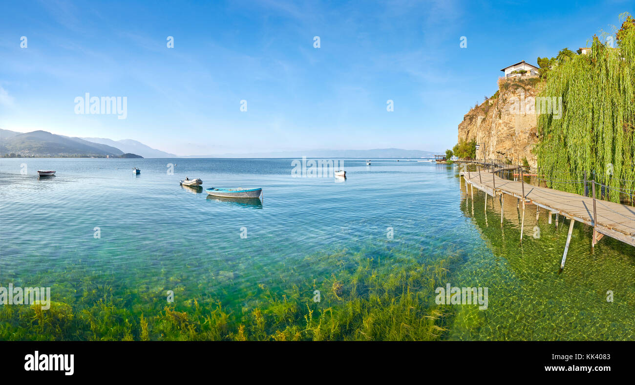 Ohrid Lake, Macedonia, Balkans - Stock Image